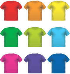 Set of colorful male t-shirts wear printing vector image