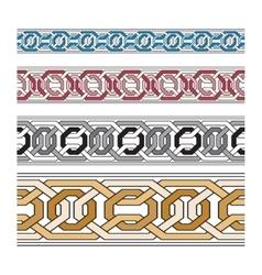 set pattern brushes Brush set for frames vector image