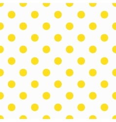 Yellow Polka Dot Pattern vector image
