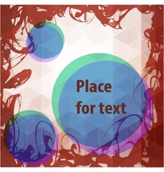 Abstract frame design with round place for text vector image