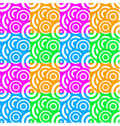 colorful abstract circle pattern seamless vector image