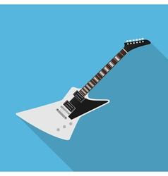flat guitar 4 vector image