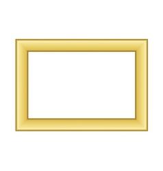 Gold frame beautiful golden white vector