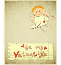 Retro Valentines Day Card vector image vector image
