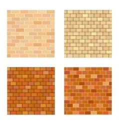 Set brick different color on white background vector image