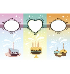 Set of calebration banners vector