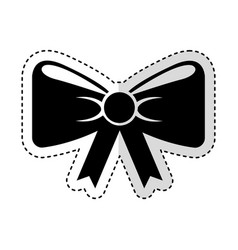 bow with ribbon isolated icon vector image