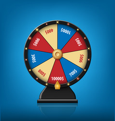 color lucky wheel template realistic wheel of vector image