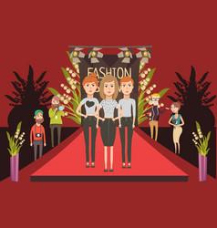 fashion show catwalk composition vector image