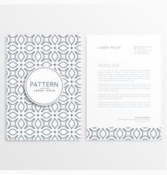 letterhead design in minimal style vector image
