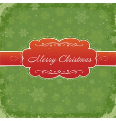 merry christmas grunge invitation vector image vector image