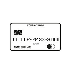 payment card sign black icon vector image
