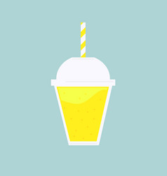 smoothie cocktail drink vector image
