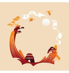 Asian landscape vector image vector image