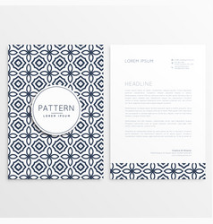 front and back letterhead design with pattern vector image vector image
