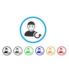 Refresh man rounded icon vector