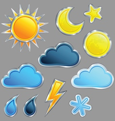 set weather icon vector image vector image