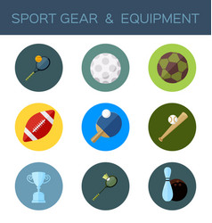 sport gear flat icon vector image