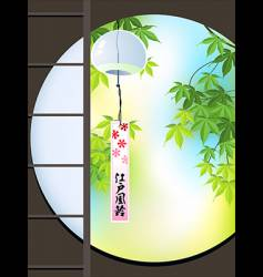 view to Japanese garden vector image vector image