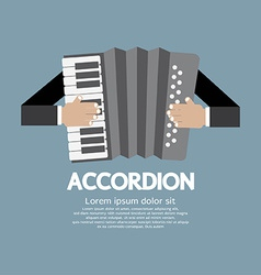 Vintage Musical Instrument Accordion vector image vector image