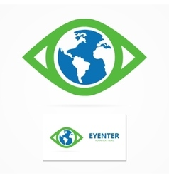 World eye design template vector image vector image