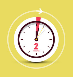 2 two minutes clock icon vector