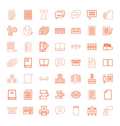 49 text icons vector image