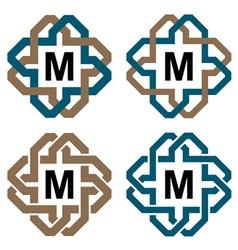 Abstract magic knot letter eternity emblem vector