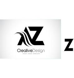 Az a z creative brush black letters design vector