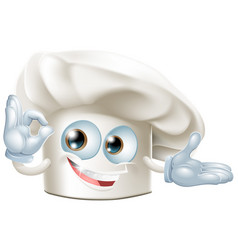 bakers hat mascot man vector image