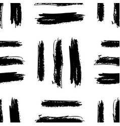 black and white simple abstract seamless pattern vector image
