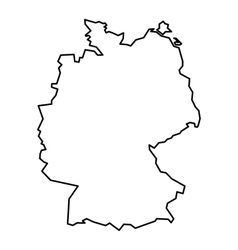 Black contour map of Germany vector