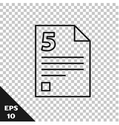 Black line infinity icon isolated on transparent vector