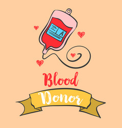 Blood donor day celebration art vector