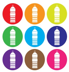 bottle icon set vector image
