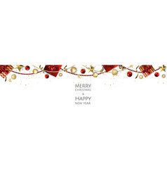 christmas background design greeting card vector image
