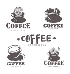 coffee logo templates vector image