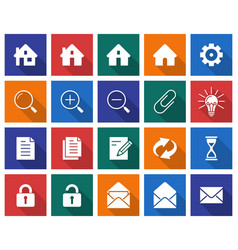 collection of square icons user interface set 1 vector image