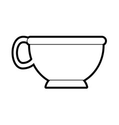 Cup silhouette silhouette vector