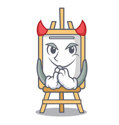 Devil easel mascot cartoon style vector
