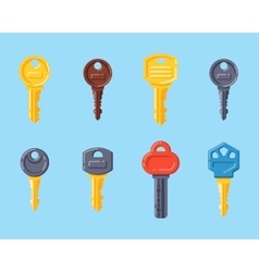 Door security key isolated icon vector