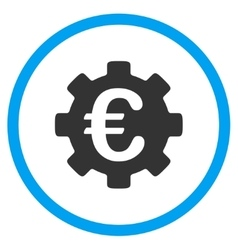 Euro Development Rounded Icon vector image
