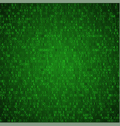 Exchange trades green background binary code vector