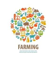 Farm logo design template horticulture vector