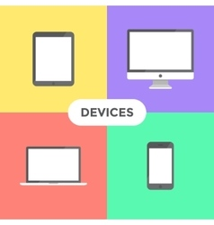 Flat Devices vector image