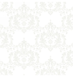 Floral damask pattern background vector