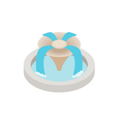 Fountain icon isometric 3d style vector