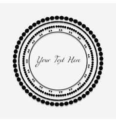 Frame with black pattern on circle for you text vector image