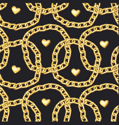 gold bracelets seamless pattern vector image