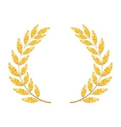 Gold Laurel Shine Wreath Award Design vector image